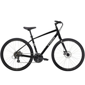 Trek Verve 1 black hybrid bike