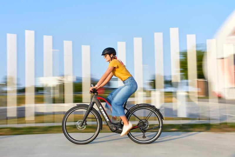 Shop E-Bikes at Bikes Palm Beach like the Trek Allant+ 8.