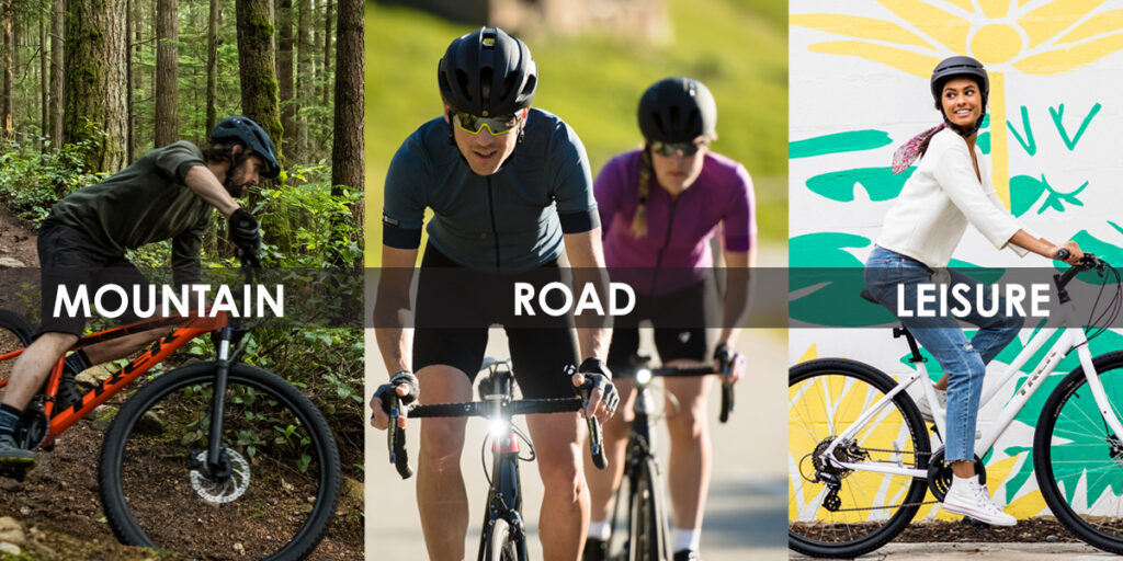 mountain, road, and recreational riding styles